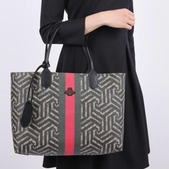 ef1197380bd Gucci Handbags - Gucci supreme caleido web canvas tote w bee